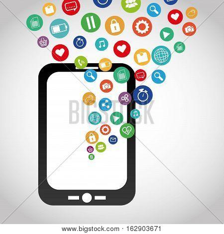 Mobile app technology icon vector illustration graphic design