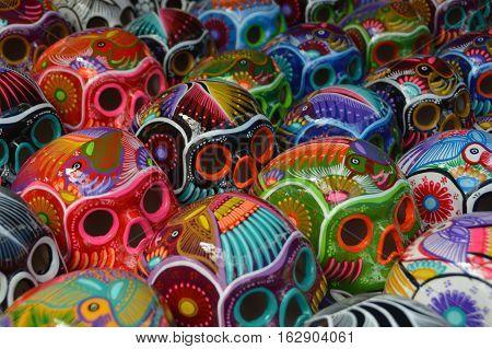 Mexiko, Schädel, Handwerk, Farben, Tot, Tradition, Kultur