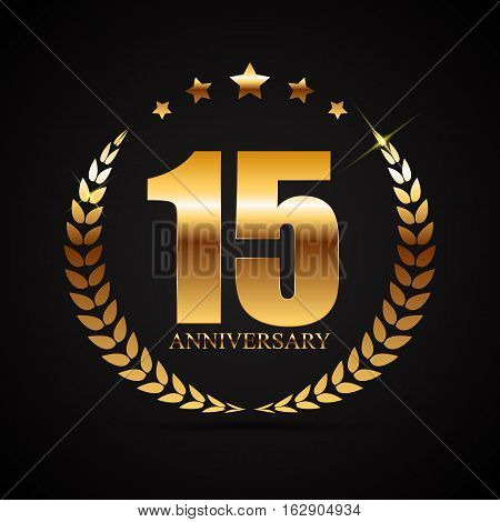 Template Logo 15 Years Anniversary Vector Illustration EPS10