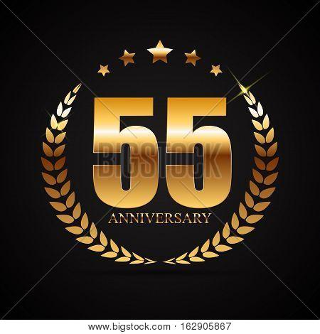 Template Logo 55 Years Anniversary Vector Illustration EPS10