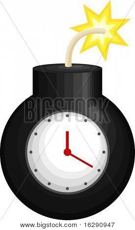 black round time bomb