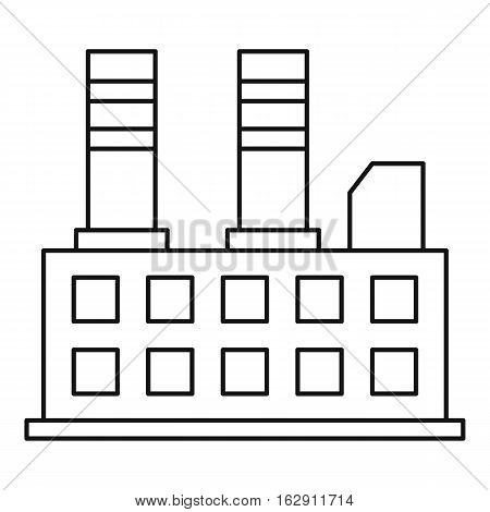 Power plant icon. Outline illustration of power plant vector icon for web