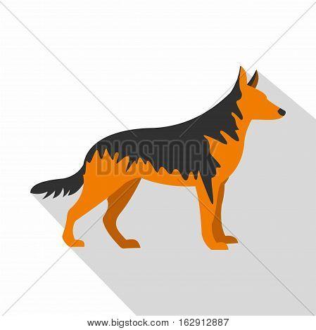 German Shepherd dog icon. Flat illustration of German Shepherd dog vector icon for web isolated on white background