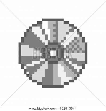 Compact disc 8 bit games audio movies CD DVD - isolated vector illustration