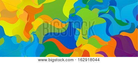Summer background. Polygonal colorful brazilian banner template