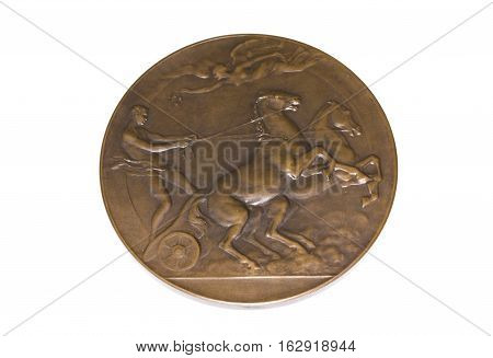 Antwerp 1920 Olympic Games Participation Medal Reverse Kouvola Finland 06.09.2016.