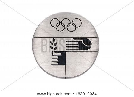Munich 1972 Olympic Games Participation Medal Reverse Kouvola Finland 06.09.2016.