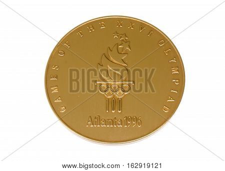 Atlanta 1996 Olympic Games Participation Medal Obverse Kouvola Finland 06.09.2016.