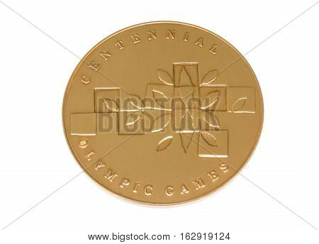 Atlanta 1996 Olympic Games Participation Medal Reverse Kouvola Finland 06.09.2016.