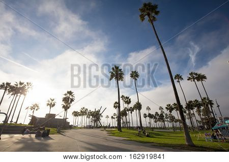 Los Angeles, USA - October 22: Venice Beach Recreation Center in Los Angeles, California, USA