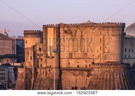 Fortress Naples Italy. Castel dell'Ovo (Egg Castle) Roman fortress.