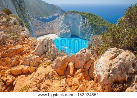Navagio Bay Summer Landscape, Greece