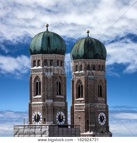 Munich Cathedral towers - Frauenkirche, Bavaria, Germany