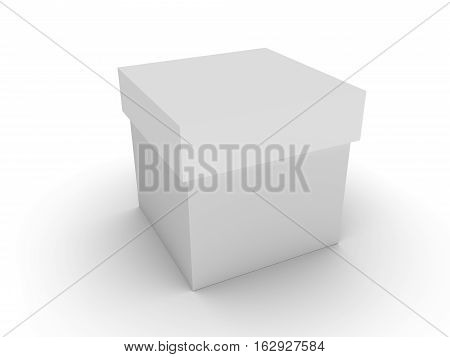 concept white box with the shadow. 3d render