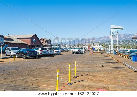 Santa Barbara California - october 25 2016: Santa Barbara pier on a sunny day