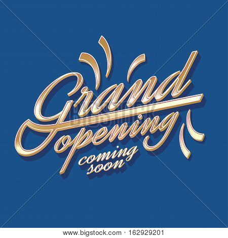 Grand opening vector illustration background. Template banner flyer poster design element decoration for opening ceremony