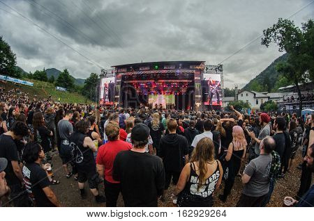 TOLMIN, SLOVENIA - JULY 28TH: ENGLISH DOOM METAL BAND ELECTRIC WIZARD PERFORMING AT METALDAYS FESTIVAL ON JULY 28TH, 2016 IN TOLMIN, SLOVENIA