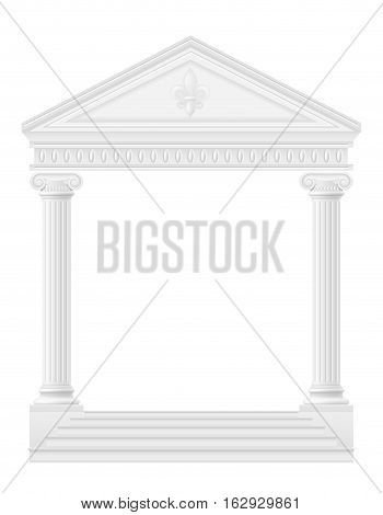 antique arch stock vector illustration isolated on white background