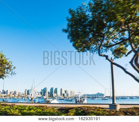 San Diego seafront on a clear day California