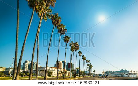 San Diego seafront on a sunny day California