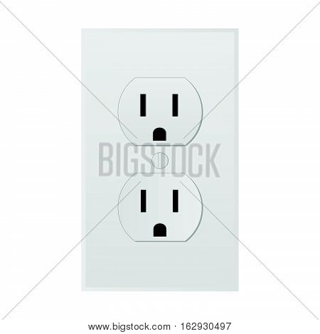 Illustration of a power outlet isolated on a white background.