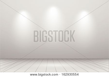 A room with studio lights background vector illustration