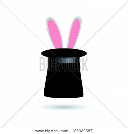 Illustration of a magic rabbit in a hat