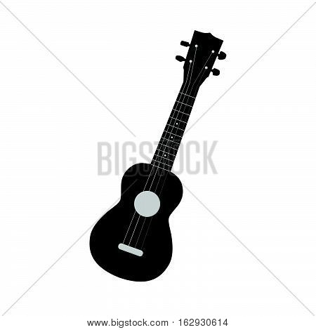 Illustration of a ukulele isolated on a white background.
