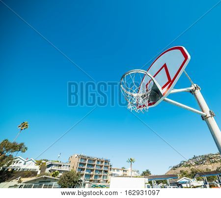 a basketball hoop in Laguna Beach California