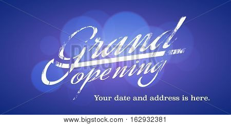 Grand opening vector illustration background for new store or club. Template banner design eleent for opening ceremony