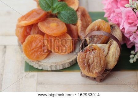 Dried apricots and mix dried fruit is delicious