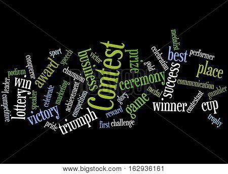 Contest, Word Cloud Concept 6