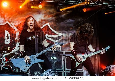 TOLMIN, SLOVENIA - JULY 29TH: AMERICAN THRASH METAL BAND EXODUS PERFORMING AT METALDAYS FESTIVAL ON JULY 29TH, 2016 IN TOLMIN, SLOVENIA