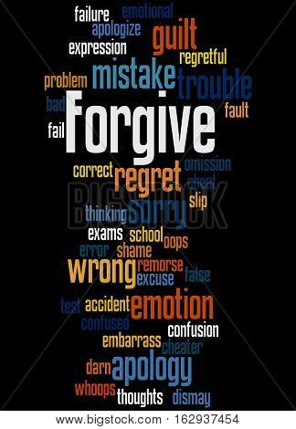 Forgive, Word Cloud Concept 6