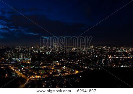 Night city scape background, Kuala Lumpur, Malaysia