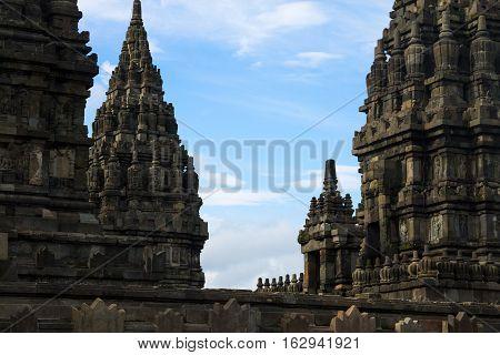 Prambanan hindu temples in Yogyakarta, Java, Indonesia.