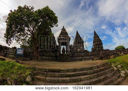 Prambanan hindu temple in Yogyakarta, Java, Indonesia.