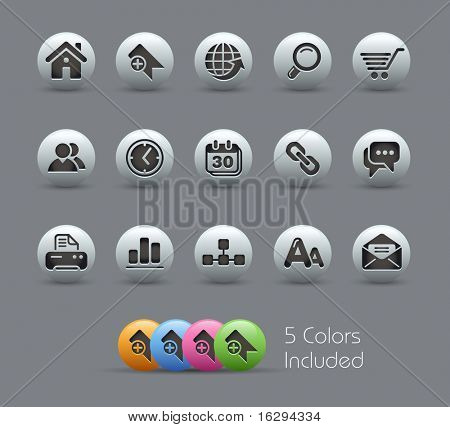 Web Site & Internet // Pearly Series -------It includes 5 color versions for each icon in different layers ---------