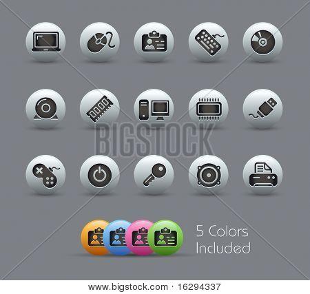 & Apparaten van de computer / / Pearly serie---het omvat 5 kleur versies voor elk pictogram in verschillende l