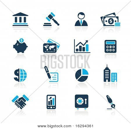 Business & Finance Web Icons // Azure Series
