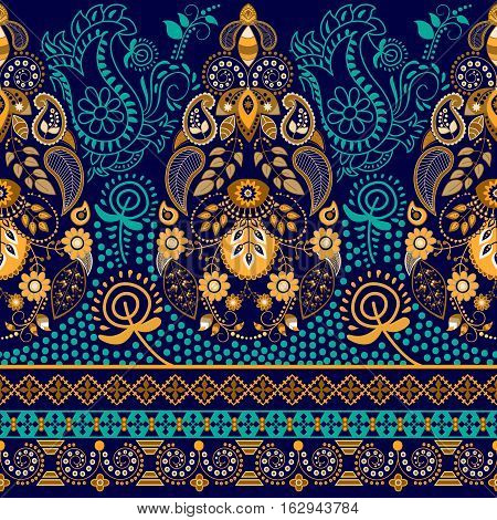 Colorful Paisley pattern. Ethnic background. Paisley backdrop