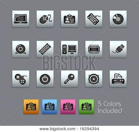 Computer & Devices // Satinbox Series -------It includes 5 color versions for each icon in different layers ---------