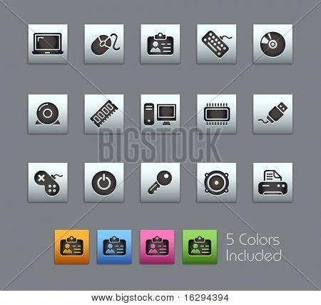 Dispositivos de computador & / / série de Satinbox---inclui 5 versões de cor para cada ícone em diferentes