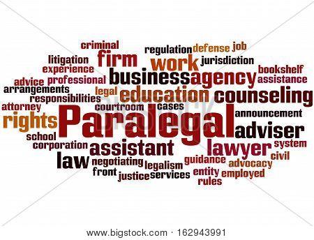 Paralegal, Word Cloud Concept 4