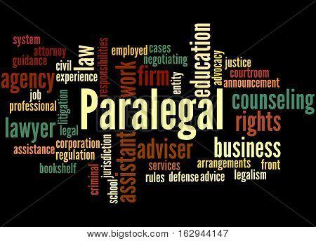 Paralegal, Word Cloud Concept 7