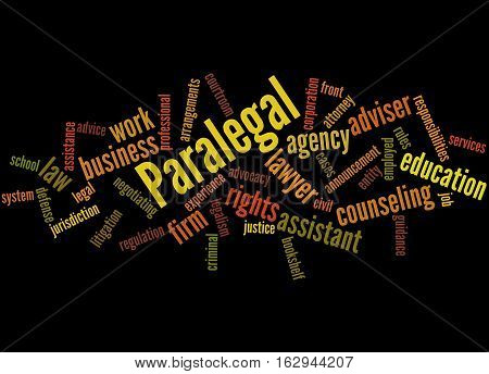 Paralegal, Word Cloud Concept 8