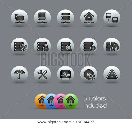 Network, Server & Hosting  // Pearly Series -------It includes 5 color versions for each icon in different layers ---------