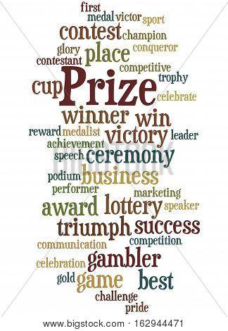 Prize, Word Cloud Concept 5