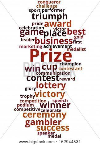 Prize, Word Cloud Concept 7