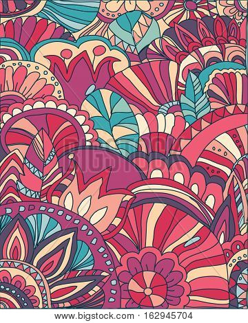 Beautiful abstract background with pattern and decorative flowers,abstract background